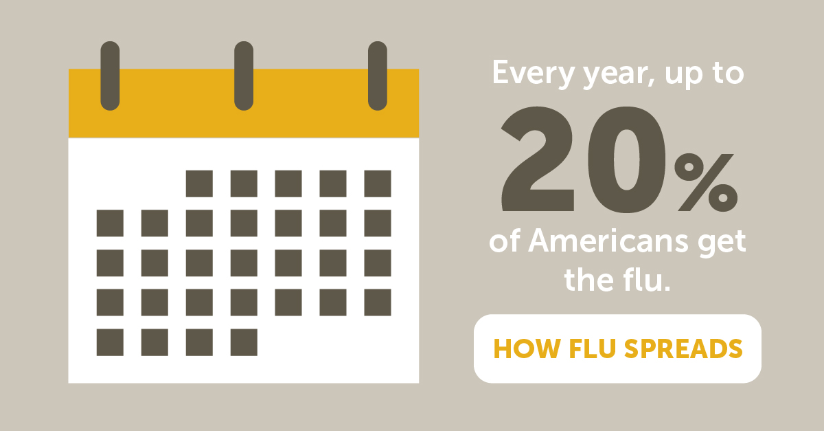 How the flu spreads
